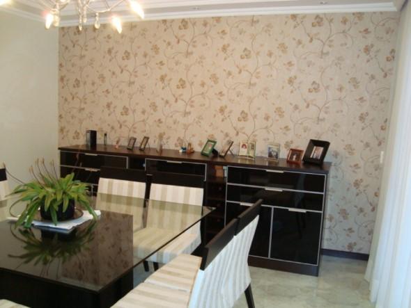 Papel de parede floral na decoração 020