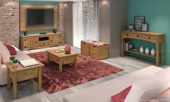 Sala de estar rústica 008