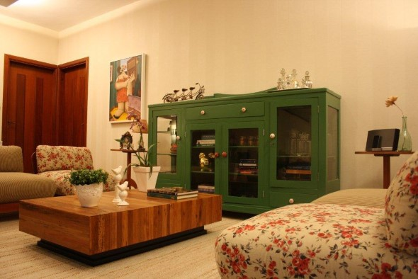 Sala de estar rústica 021