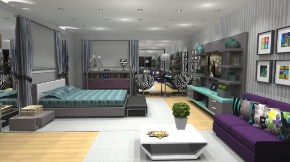 Tenha um sofá confortável em seu quarto 013