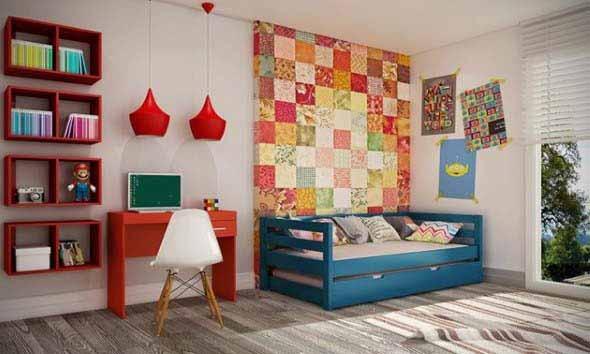Cômodos com móveis coloridos 002