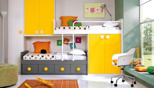 Cômodos com móveis coloridos 014