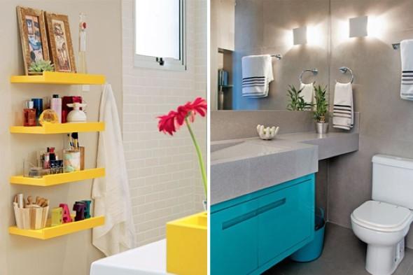 Cômodos com móveis coloridos 017