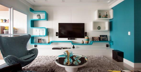 Cômodos com móveis coloridos 020