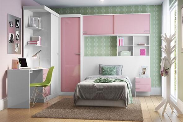 Cômodos com móveis coloridos 022