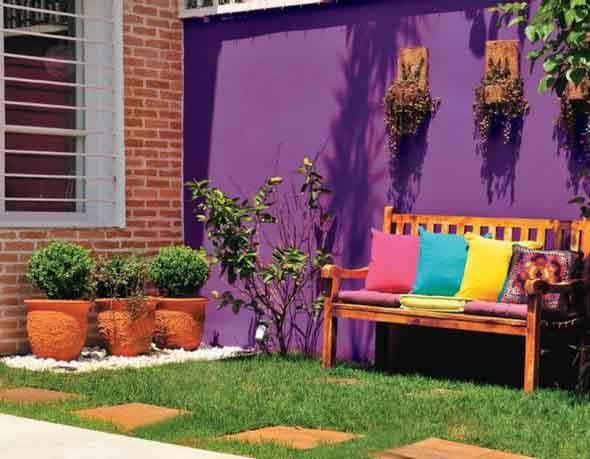 Colorido na varanda e jardim 001