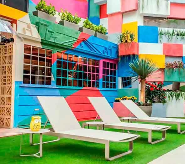 Colorido na varanda e jardim 013