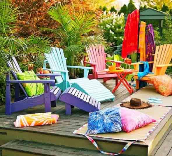 Colorido na varanda e jardim 017