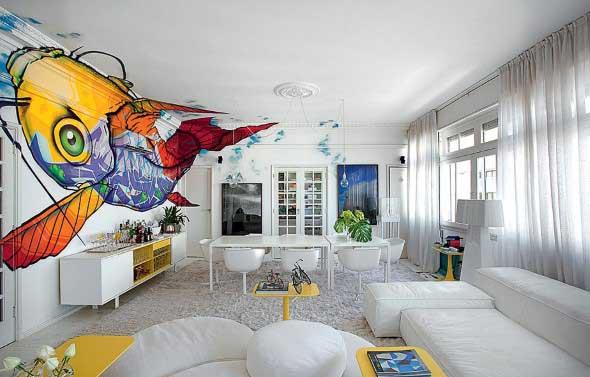 Grafite colorido na decoração 001