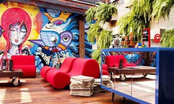 Grafite colorido na decoração 002