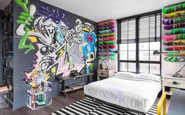 Grafite colorido na decoração 005