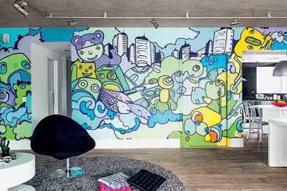 Grafite colorido na decoração 006