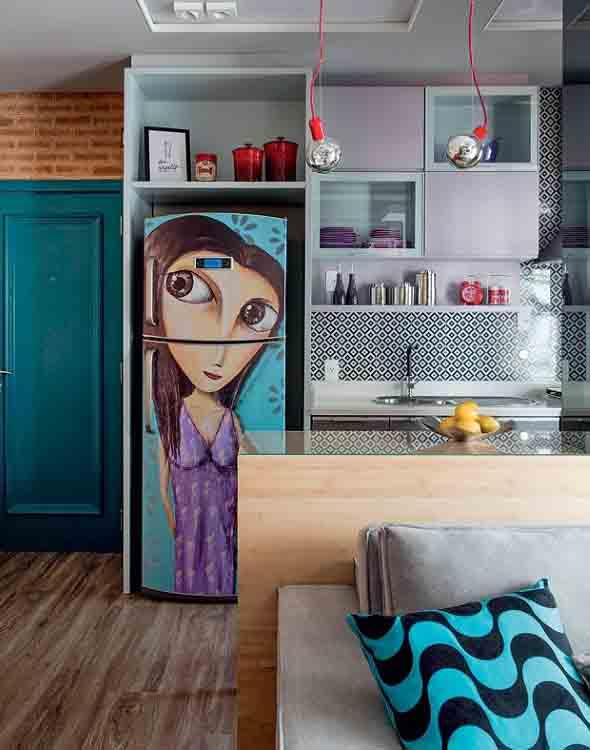 Grafite colorido na decoração 008