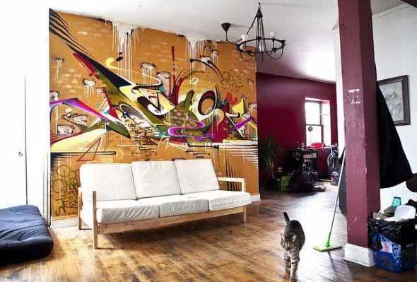 Grafite colorido na decoração 009
