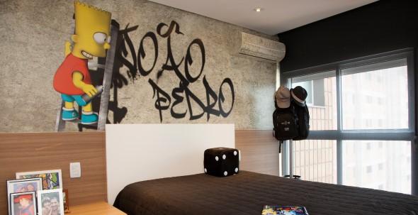 Grafite colorido na decoração 010