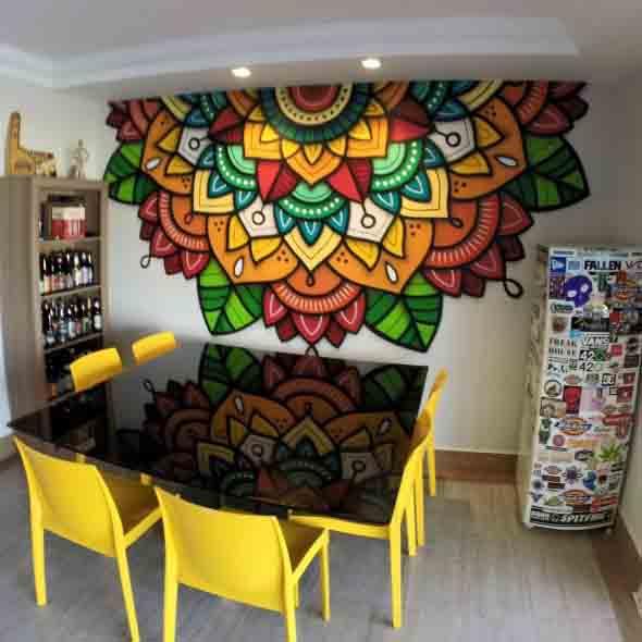 Grafite colorido na decoração 011