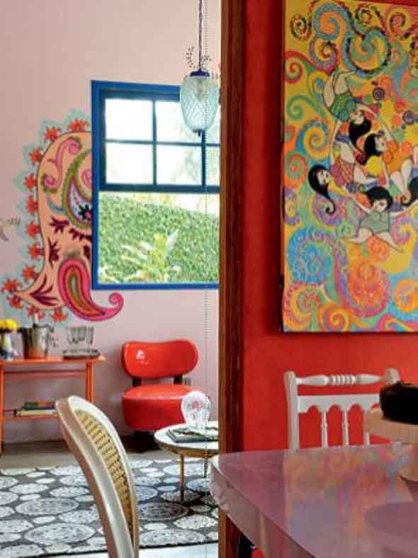 Grafite colorido na decoração 013