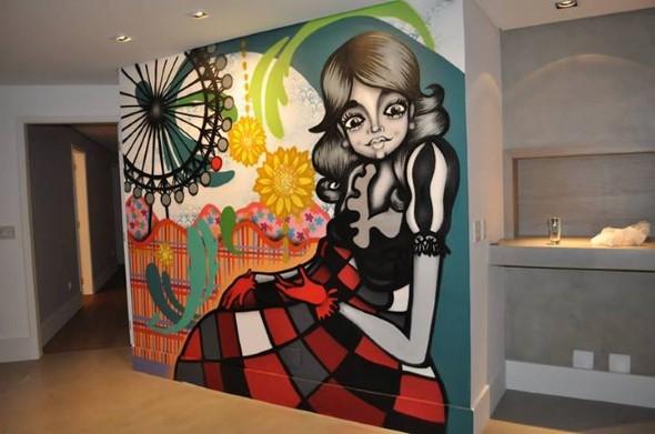 Grafite colorido na decoração 018