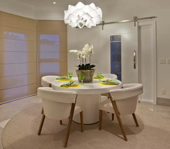 Ideias de mesas redondas na sala de jantar - Mesas redondas modernas ...