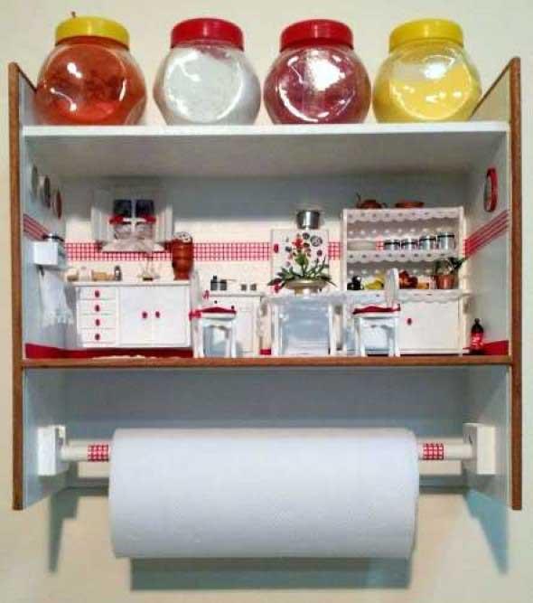 Objetos em miniatura na decoração 015