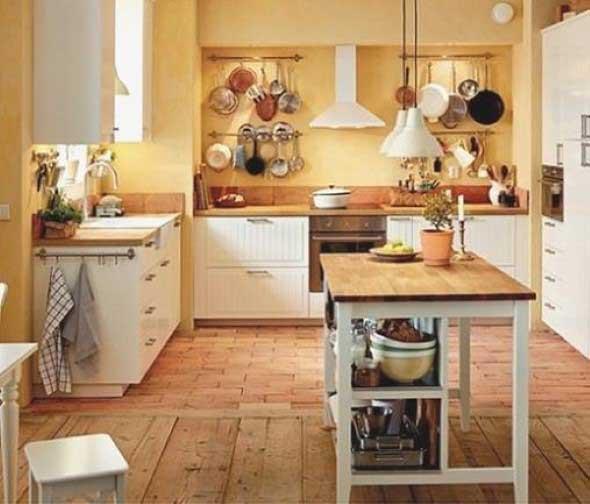 Balcão rústico na cozinha 004