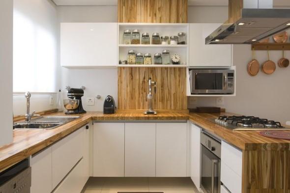 Balcão rústico na cozinha 010