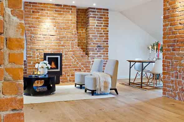 Casas modernas revestidas com tijolos 009