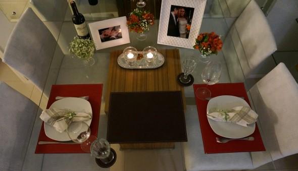 Mesa de jantar decorada Dia dos Namorados 017