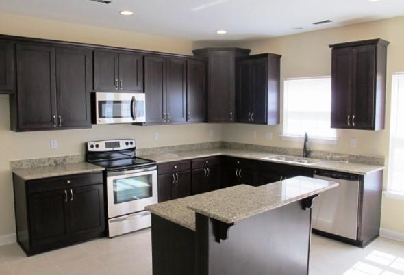 Cozinhas com armários pretos 012