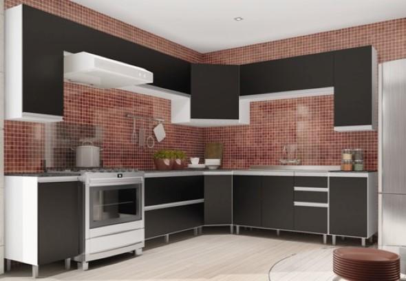 Cozinhas com armários pretos 017