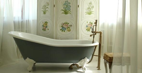 Decoração com banheiras antigas 001