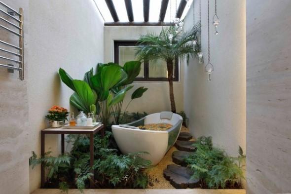 Decoração com banheiras antigas 006