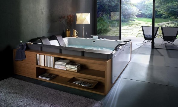 Decoração com banheiras antigas 014