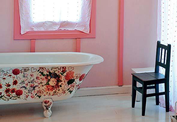 Decoração com banheiras antigas 018