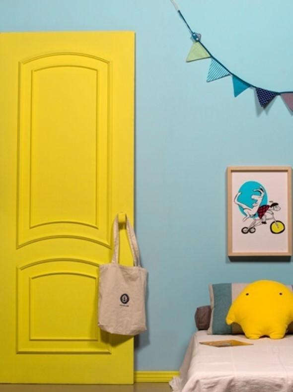 Decorar com portas coloridas 019