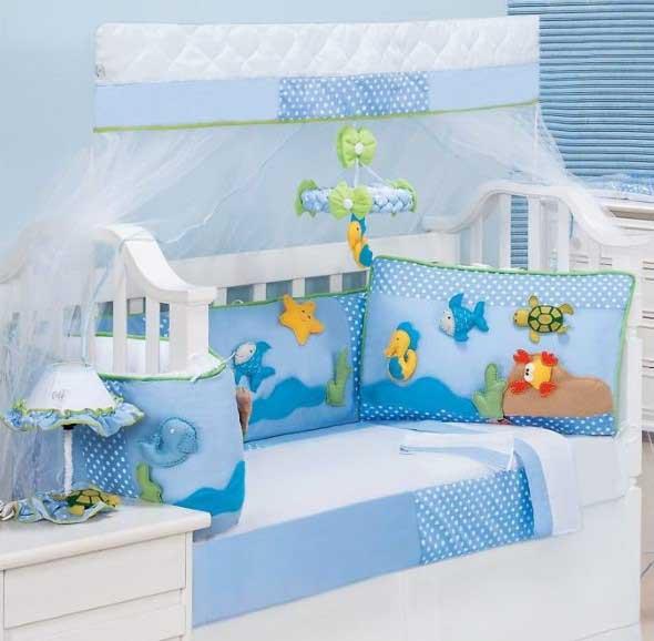 Decorar quarto de bebê em estilo praia 017