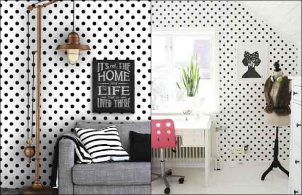 Ideias para decorar as paredes com bolinhas 001