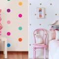 Ideias para decorar as paredes com bolinhas 003