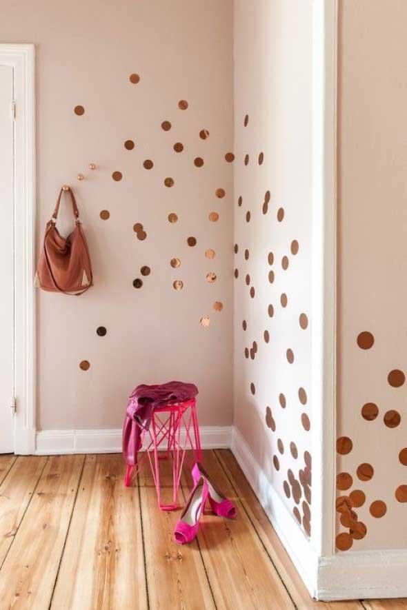 Ideias para decorar as paredes com bolinhas 004
