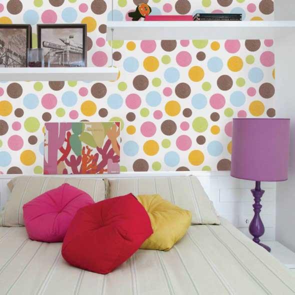Ideias para decorar as paredes com bolinhas 005