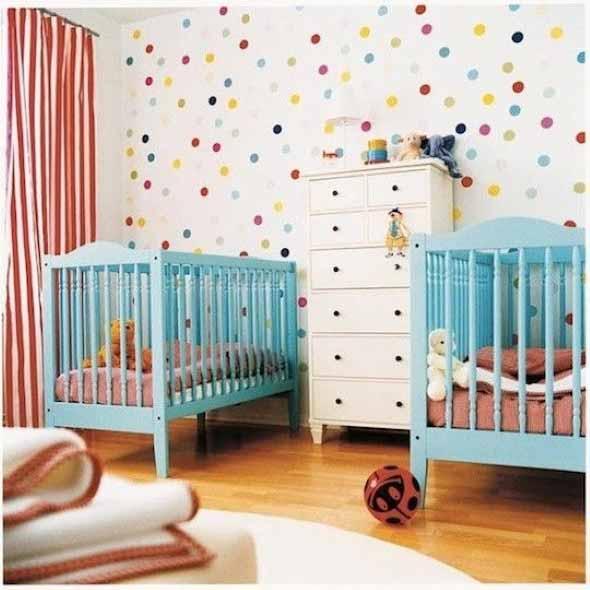 Ideias para decorar as paredes com bolinhas 006