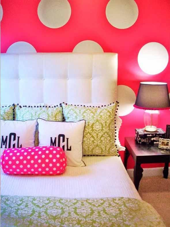 Ideias para decorar as paredes com bolinhas 008
