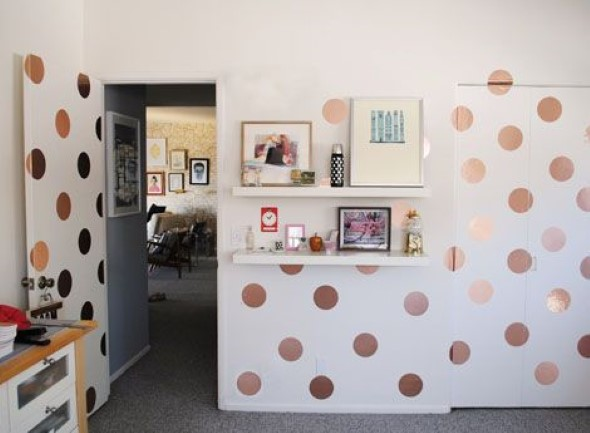 Ideias para decorar as paredes com bolinhas 011