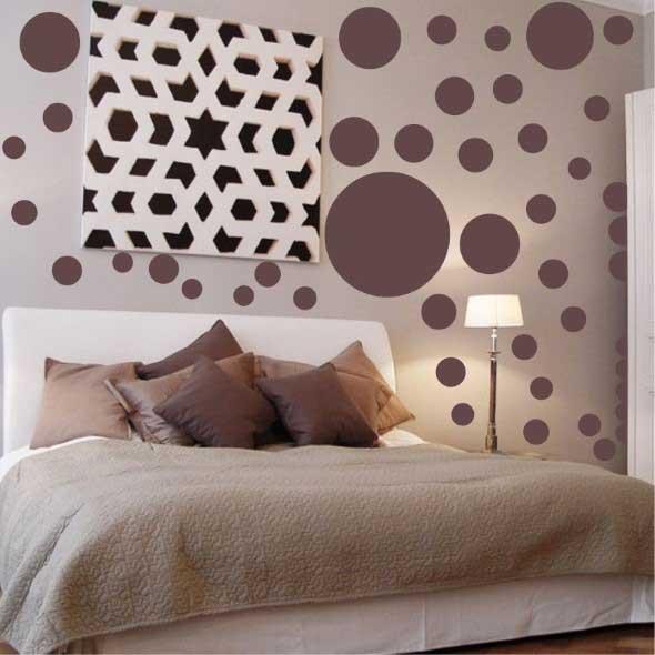 Ideias para decorar as paredes com bolinhas 012