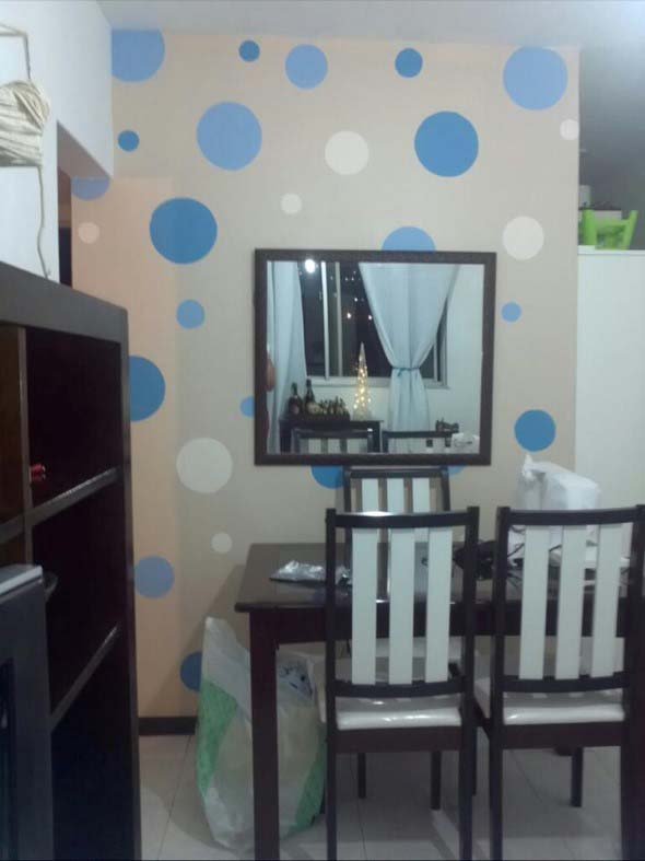Ideias para decorar as paredes com bolinhas 013