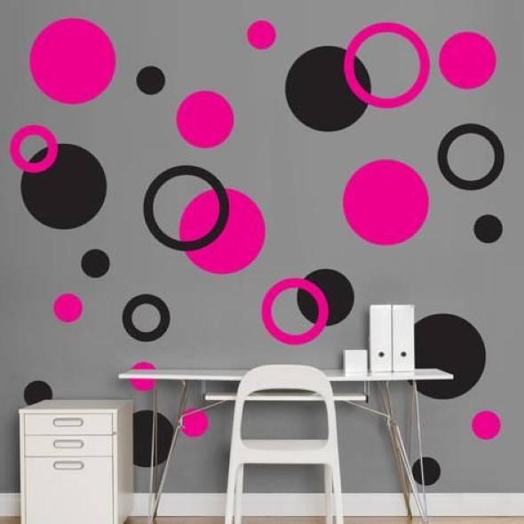Ideias para decorar as paredes com bolinhas 016