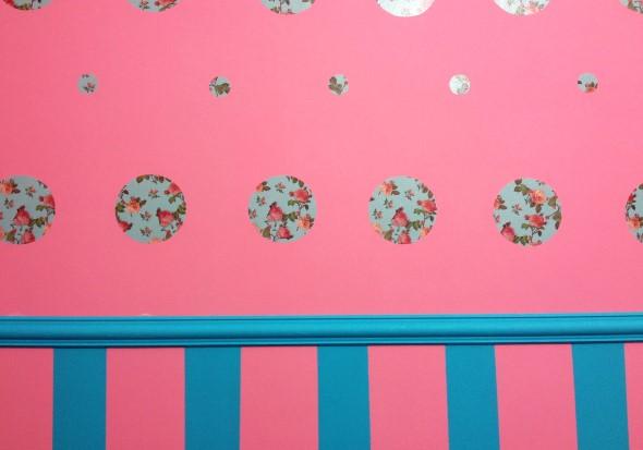 Ideias para decorar as paredes com bolinhas 017