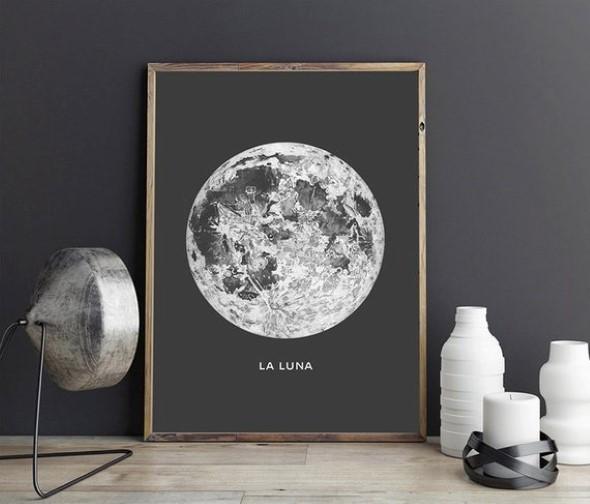 Peças de decoração inspiradas na Lua 001