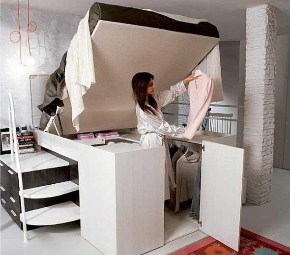 Pequenos espaços debaixo da cama 002