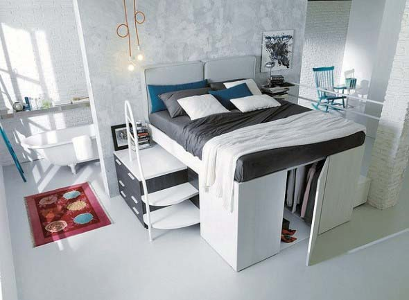 Pequenos espaços debaixo da cama 012